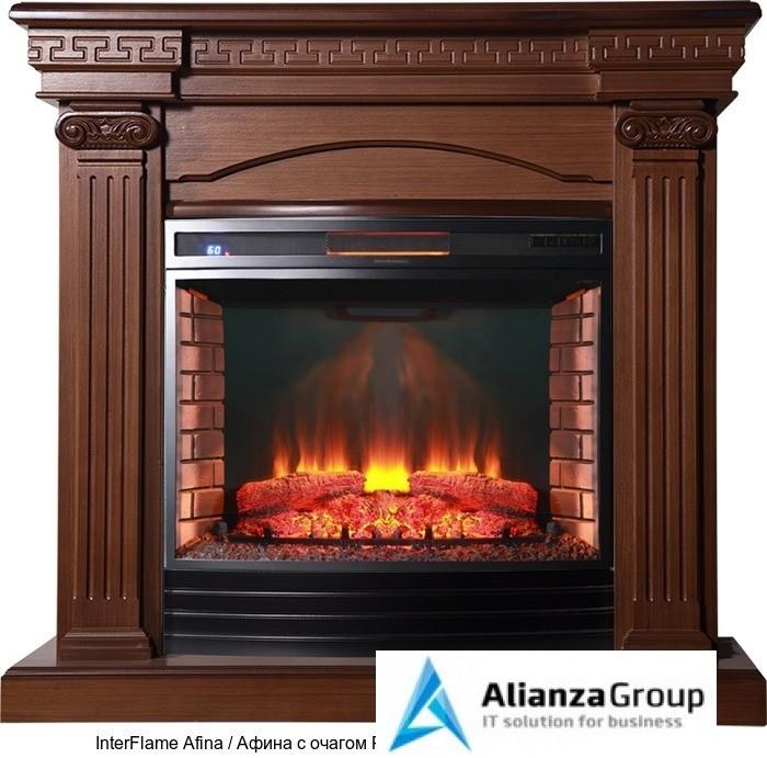 Деревянный камин (портал+очаг) InterFlame Afina / Афина с очагом Panoramic 06-25 Led F/X Quartz