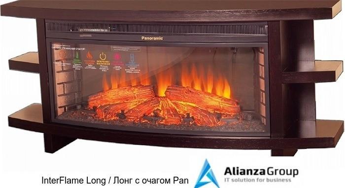 Деревянный камин (портал+очаг) InterFlame Long / Лонг с очагом Panoramic 06-33W led F/X