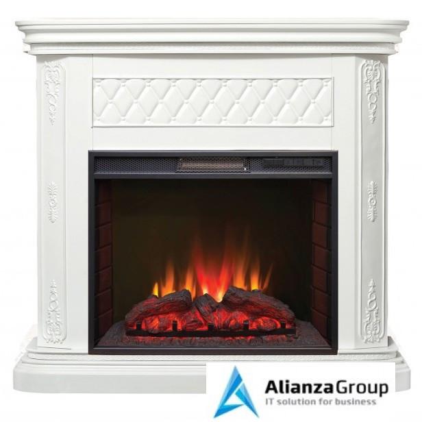 Электрокамин (очаг+портал) Real-Flame Bergamo 25,5 WT с очагом Sparta 25,5 LED