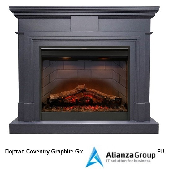 Электрокамин (очаг+портал) Royal Flame Coventry Graphite Grey с очагом Symphony 2608 EU/ 2624-L
