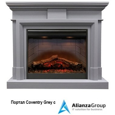 Электрокамин (очаг+портал) Royal Flame Coventry Grey с очагом Symphony 2608 EU/ 2624-L