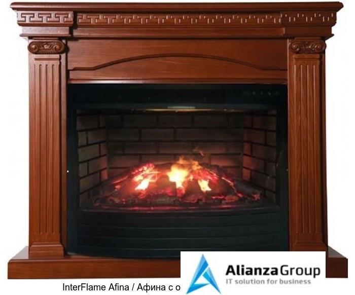 Деревянный камин (портал+очаг) InterFlame Afina / Афина с очагом Triumph 33 3D