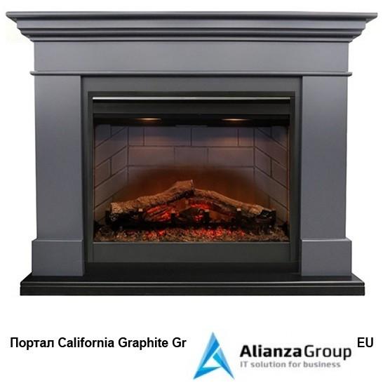Электрокамин (очаг+портал) Royal Flame California Graphite grey с очагом Symphony 2608 EU/ 2624-L