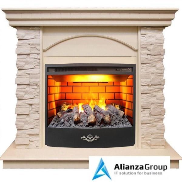Электрокамин (очаг+портал) Real-Flame Elford STD/EUG/25'5/HL WT 3D Firestar 25,5