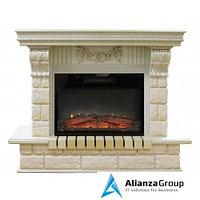 Электрокамин (очаг+портал) Real-Flame Gracia 25'5/24 WT с очагом Kendal 24
