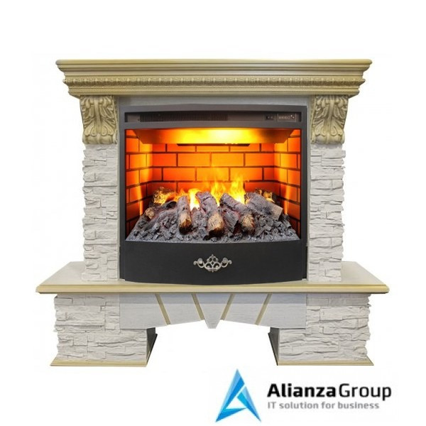 Электрокамин (очаг+портал) Real-Flame Rockland Lux 25/25,5 WT 3D Firestar 25,5