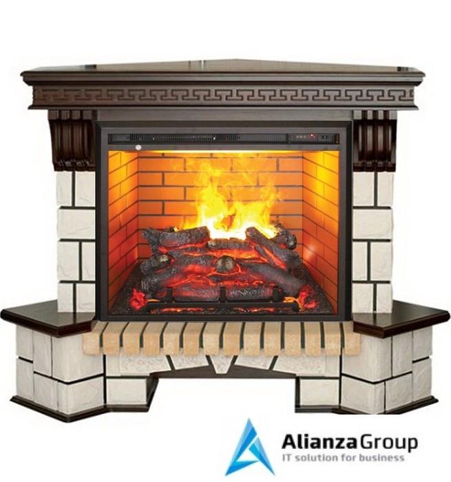 Электрокамин с увлажнителем воздуха Real-Flame Stone Corner new 26/HL AO (DN) с очагом 3D Leeds 26