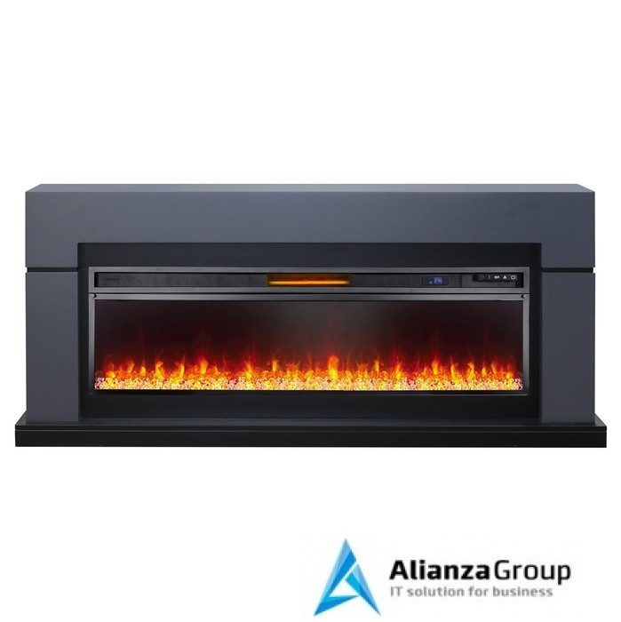Электрокамин (очаг+портал) Royal Flame Lindos Graphite Grey с очагом Vision 60 (Серый графит)