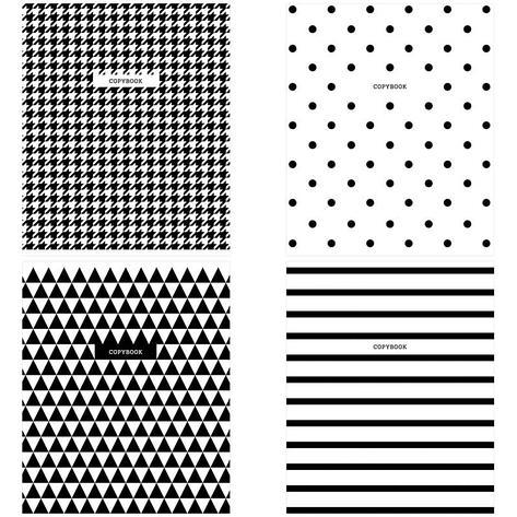 "Тетрадь 48л., А5, клетка ArtSpace ""Узоры. BW Pattern"", фото 2"