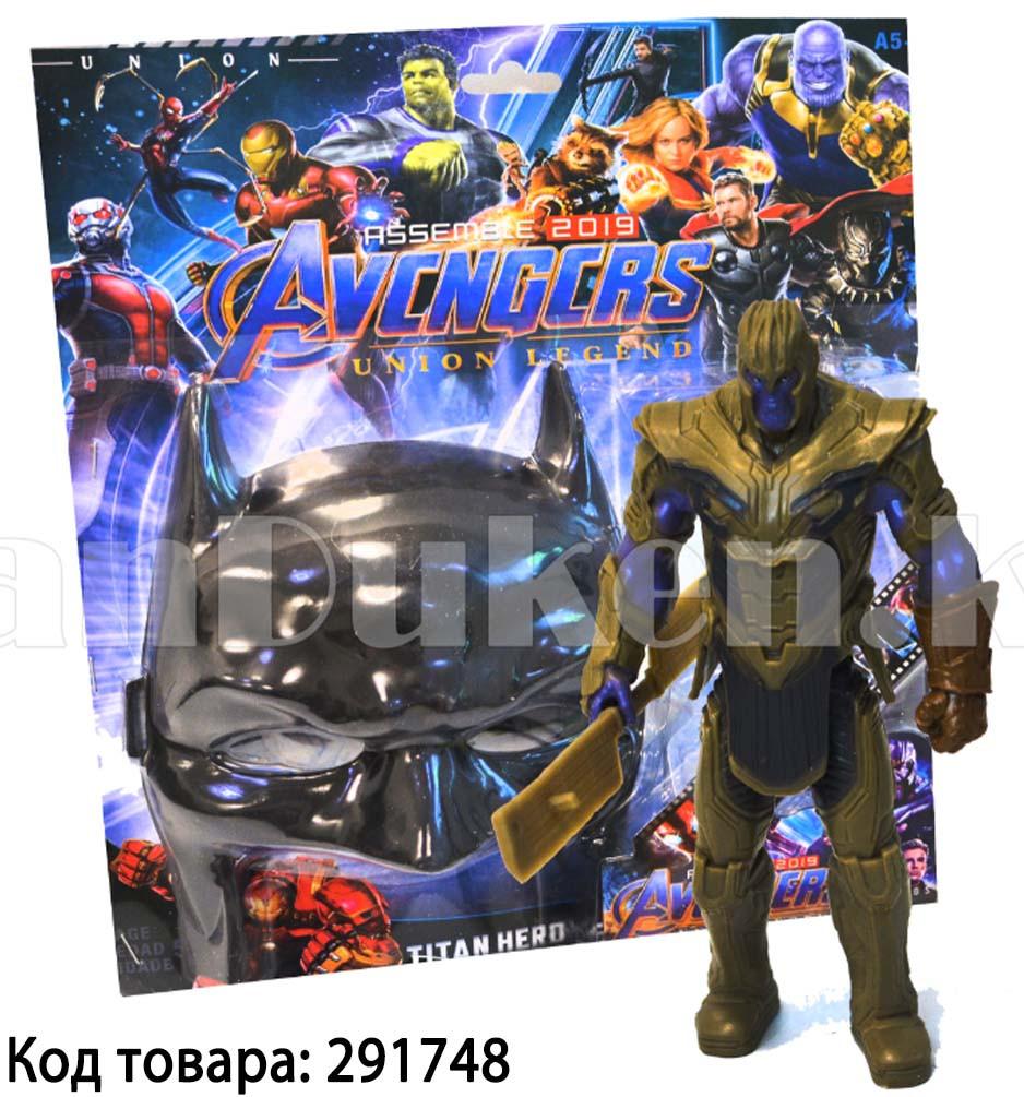Набор детская маска и фигурка Танос 15.5 см серия Мстители - фото 1