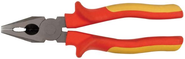 Плоскогубцы Электро-2,1000 В, высокоуглерод.сталь, прорезин.ручки комбинированные 160 м /50773/