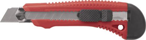 """Нож технический серия """"Оптима"""", пластик.корпус, усиленный металл.направляющей, 18мм /10168/"""