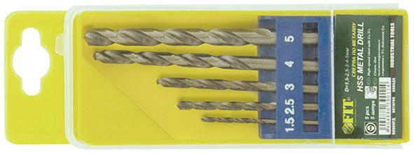 Сверла по металлу полированные в наборах 13шт. (1,5-6,5мм) /33799/