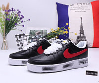 """Кроссовки Nike Air Force 1 """"Black and Red"""" (36-44)"""
