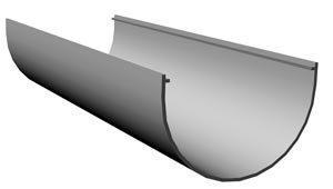 Желоб водосточный 3 м D= 120 мм Docke Standart