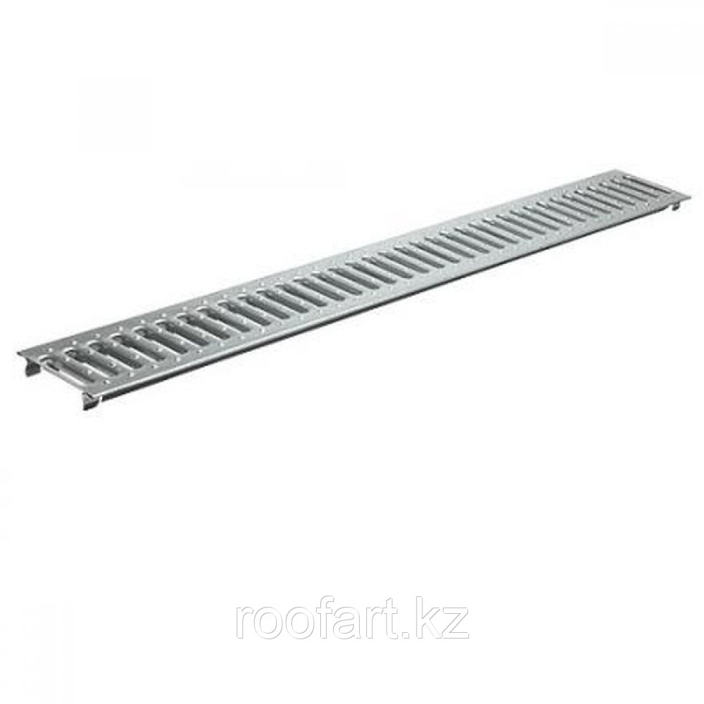 Лоток водоотводный -10.14,5.8-пластиковый со стальной решеткой
