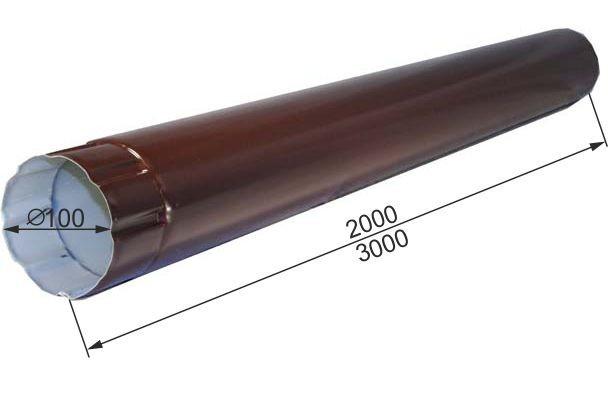 ТРУБА ВОДОСТОЧНАЯ D100Х2000-3000