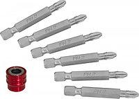 951406 Набор вставок-бит для механического инструмента со сменным магнитным держателем, PH2, 50 мм, 7 предметов