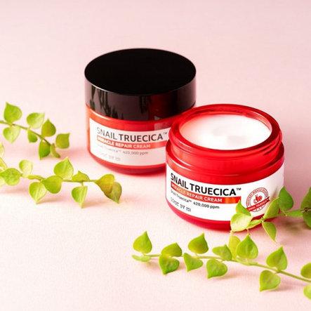 Восстанавливающий  улиточный крем  Some By Mi Snail Truecica Miracle Repair Cream, фото 2