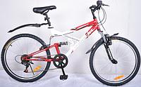 """Велосипед подростковый Torrent Adrenalin 7скоростей, колеса 24 д., рама сталь 17"""", Red-White)"""