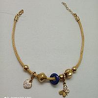 Золотой браслет под пандору