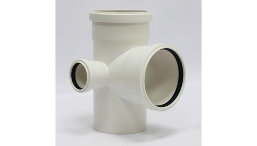 Крестовина двухплоскостная канализационная левая 110*110*50/90