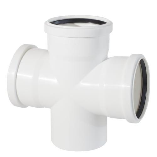Крестовина одноплоскостная канализационная  110*110*110/90
