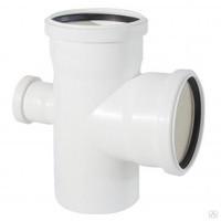 Крестовина одноплоскостная канализационная 110*110*50/90