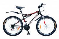 """Велосипед горный Torrent Freestyle (21 скорость, колеса 26д, рама алюминий 18"""", Black-Red)"""