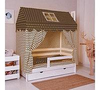 Комплект в кроватку INCANTO Домик кофе, фото 1