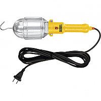 Лампа переносная 60 Вт, кабель 5 м Denzel