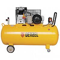 Компрессор DR3000/200, масляный ременной, 10 бар, производительность 520 л/м, мощность 3 кВт Denzel