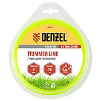 Леска для триммера, двухкомпонентная круглая 3,0 мм, 15 м Extra cord Denzel