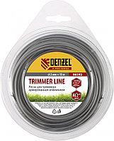 Леска для триммера, армированная алюминием, X-Pro, круглая, 2 мм х 15 м, блистер Россия Denzel
