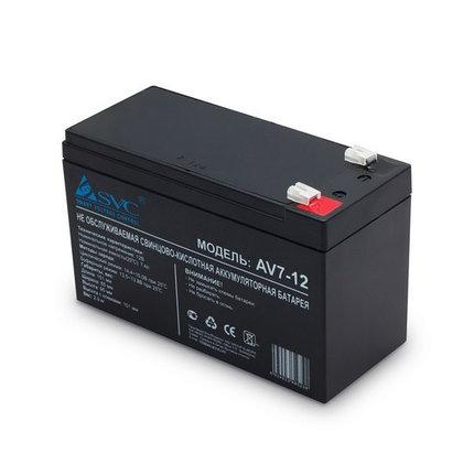 Аккумуляторная батарея 12В 7Ач SVC (95*151*65), фото 2