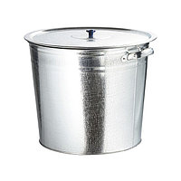 Бак для воды оцинкованный с крышкой (крышка с ручкой) 20 л, без крана Россия