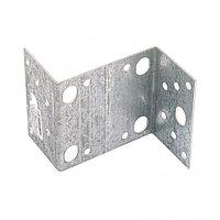 Крепежный уголок Z-образный, KUZ 55 х 105 х 90 мм, цинк Россия Сибртех