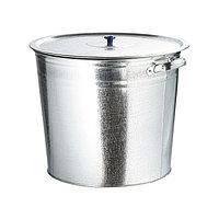 Бак для воды оцинкованный с крышкой (крышка с ручкой) 32 л, без крана Россия