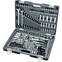 Набор инструмента, 1/4, 3/8, 1/2, Cr-V, S2, усиленный кейс, 216 предметов Stels