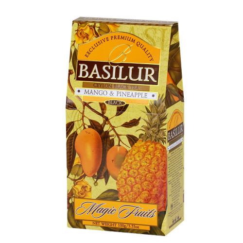 Чай чёрный рассыпной Волшебные фрукты Манго и ананас Mango and pineapple, 100гр Basilur