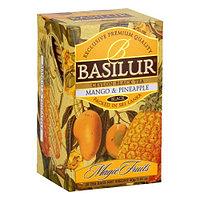 Чай чёрный пакетированный Волшебные фрукты Манго и ананас Mango and pineapple, 20пак Basilur