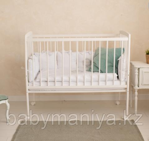 Кроватка детская Incanto Golden Baby, цвет белый, колесо