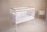 Кроватка детская Incanto Golden Baby, цвет белый, колесо, фото 2