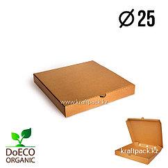 Эко-упаковка для пиццы 250*250*40, крафт (Eco Pizza 250 PK) DoEco (50)