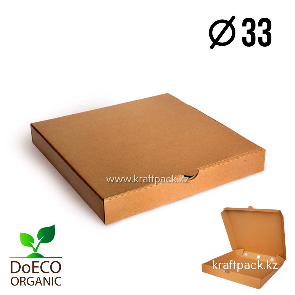 Эко-упаковка для пиццы 330*330*40, крафт (Eco Pizza 330 PK) DoEco
