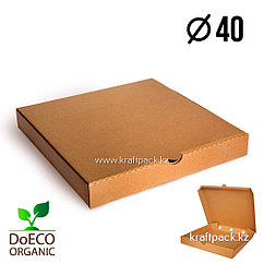 Эко-упаковка для пиццы 400*400*40, крафт (Eco Pizza 400 PK) DoEco