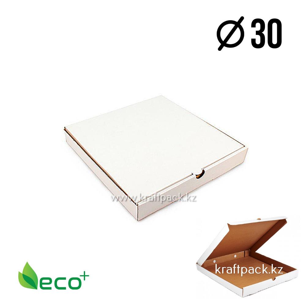 Коробка для пиццы Белая 300*300*40 (Eco Pizza W300 Standart) Eco+