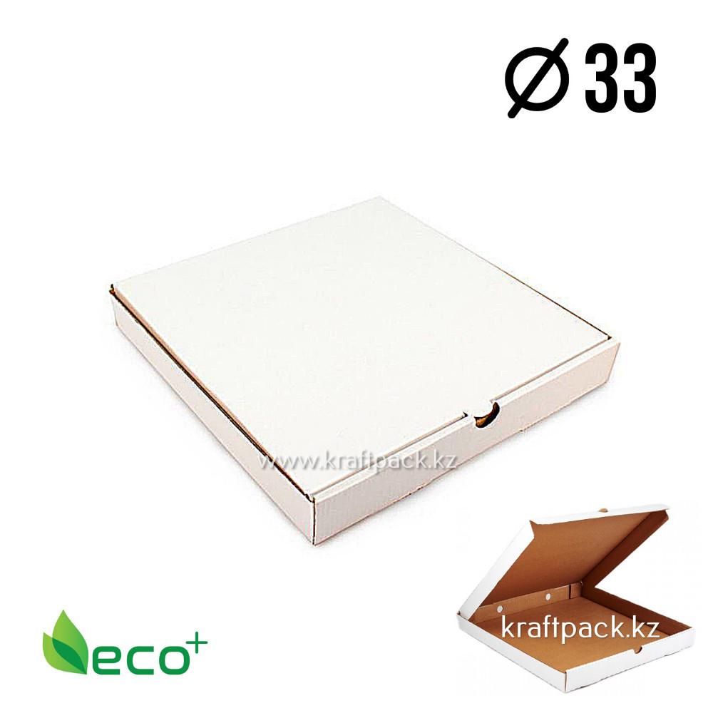 Коробка для пиццы Белая 330*330*40 (Eco Pizza W330 Standart) Eco+