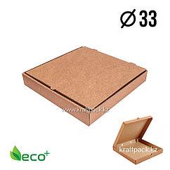 Коробка для пиццы Бурая 330*330*40 (Eco Pizza 330 Standart) Eco+