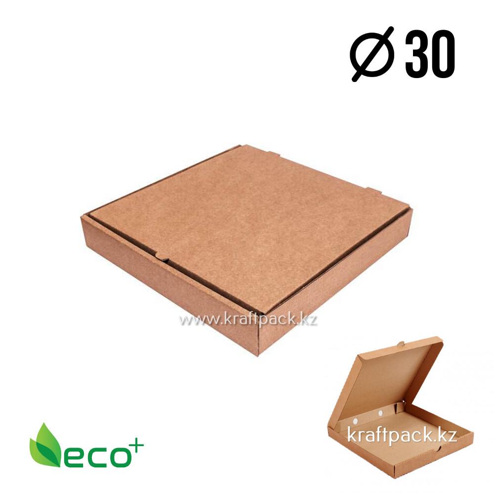 Коробка для пиццы Бурая 300*300*40 (Eco Pizza 300 Standart) Eco+